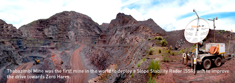 Thabazimbi Mine was the first mine in the world to deploy a Slope Stability Radar (SSR) unit to improve the drive towards Zero Harm