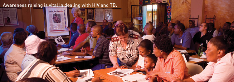 Awareness raising is vital in dealing with HIV and TB.